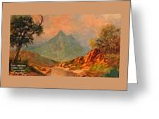 View On Blue Tip Mountain H A Greeting Card