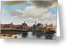 View On Delft Greeting Card