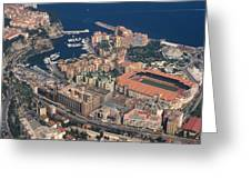 View On Monte Carlo On French Riviera Greeting Card