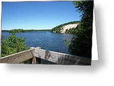 View On The Au Sable Greeting Card