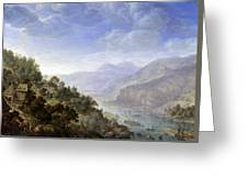View On The Rhine Greeting Card