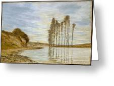 View On The Seine,  Harp Of The Winds , Homer Dodge Martin Greeting Card
