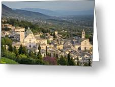 View Over Assisi Greeting Card