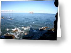 View Over Bass Rock Greeting Card