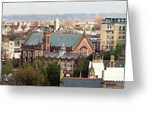 View Over Bristol With Bristol Grammar School Greeting Card