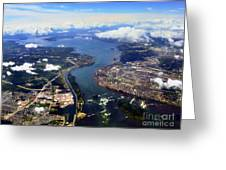 View Over Lasalle Montreal Greeting Card