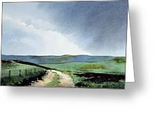 View Over Pole Moor Greeting Card