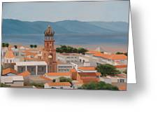 View Over Puerto Vallarta Greeting Card