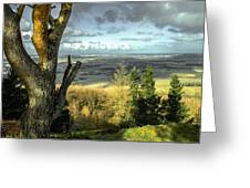 View Over Redcar Greeting Card