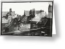 View Over Rooftops In Amsterdam  George Hendrik Breitner  C  1890    . 1910 Greeting Card