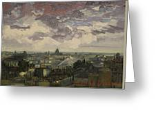 View Over Rooftops Of Paris Greeting Card