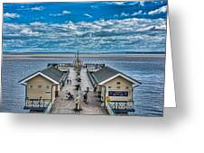 View Over The Pier Greeting Card