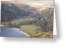 View Over The Wicklow Hills Greeting Card