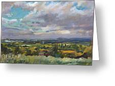 View Over Wrexham In North Wales Greeting Card