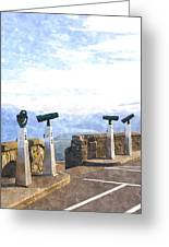 View The Columbia At The Vista House Greeting Card