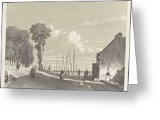 View The Veerweg Culemborg, Jan Weissenbruch, 1847 - 1865 Greeting Card