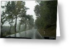 View Through The Window Of A Car Greeting Card