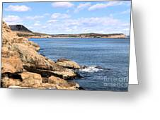 View To Sand Beach Greeting Card