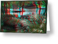 View To The Cove - Use Red-cyan 3d Glasses Greeting Card