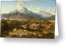 View To Watzmann And Hochkalter Greeting Card