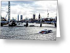 View To Westminster London Greeting Card