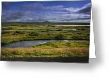 View Towards Lake Myvatn Iceland Greeting Card