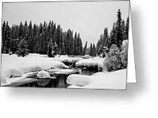 View Upriver Greeting Card