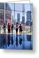 Viewing Ground Zero Greeting Card