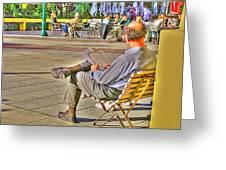 Viewing Man Greeting Card