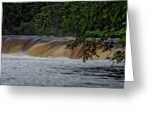 Viewing Tahquamenon Lower Falls Upper Peninsula Michigan 02 Greeting Card