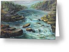 Viewing The Rapids Greeting Card
