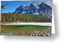 Views From Lake Louise Alberta  Greeting Card