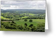 View Of The Surrey Hills From Newlands Corner Greeting Card