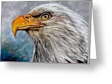 Vigilant Eagle Greeting Card