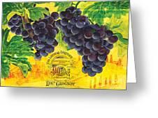 Vigne De Raisins Greeting Card