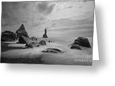 Vik Iceland Bw Greeting Card