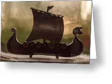 Viking Boat Greeting Card