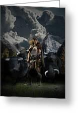 Viking Gefjon Greeting Card