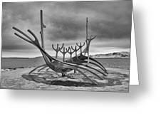 Viking Ship Sculpture Greeting Card
