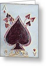 Vikings Ace Of Spades Greeting Card
