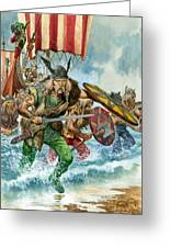 Vikings Greeting Card by Pete Jackson