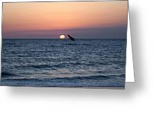 Vilano Beach At Sunrise Greeting Card