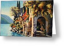 Villa Balbianello Lake Como Greeting Card