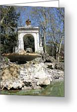 Villa Borghese River Greeting Card