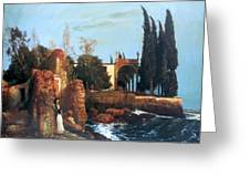 Villa By The Sea 1878 Greeting Card