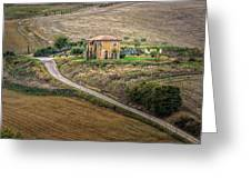 Villa In Tuscany, Italy Greeting Card