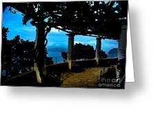 Villa San Michele At Anacapri, Italy - Painting Greeting Card