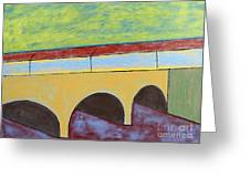 Village And Bridge Greeting Card