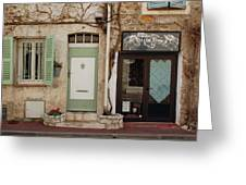French Village Doors Greeting Card
