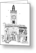 Village Gate In Old Le Thor France Greeting Card